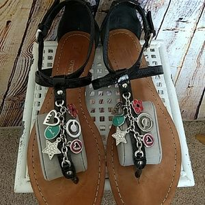 Coach Shoes - Coach Poppy Charm Sandals sz 8